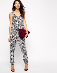 Only Solero Aztec Print Sleeveless Jumpsuit Blackwgrafic