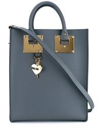 Sophie Hulme Mini Albion Leather Tote Charcoal