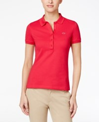 Lacoste Five Button Slim Fit Polo Strawberry Pink