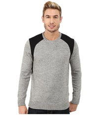 Calvin Klein Cotton Poly Heather Ponte Crew Neck Sweater Heather Grey Men's Sweater Gray