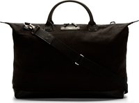 Want Les Essentiels Black Canvas And Leather Hartsfield Weekender Bag