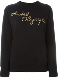 Olympia Le Tan Hotel Olympia Embroidered Sweatshirt Black