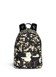 Givenchy Baby's Breath Floral Print Small Nylon Backpack Multi Colour