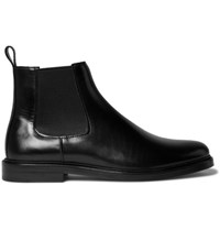 A.P.C. Leather Chelsea Boots Black