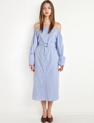 Pixie Market Cuffed Off The Shoulder Shirt Dress By New Revival