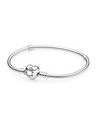 Pandora Design Pandora Bracelet Sterling Silver With Heart Clasp Moments Collection