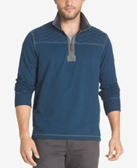 G.H. Bass And Co. Men's Zip Up Pullover Blue Wing Teal Heather