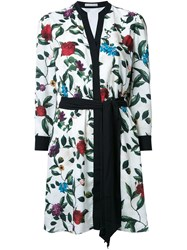 Alice Olivia Belted Floral Tunic Dress White