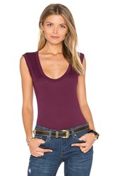Velvet By Graham And Spencer Estina Scoop Neck Tank Purple