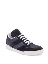 Bottega Veneta Inter Speedster Calfskin Leather Sneakers Dark Grey