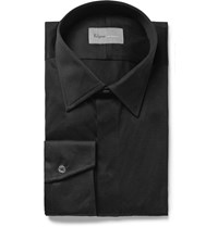 Kilgour Black Slim Fit Cotton Jersey Shirt