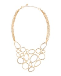 Lydell Nyc Golden Pave Crystal Statement Bib Necklace Crystal Cl