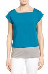 Women's Eileen Fisher Square Neck Crop Tee