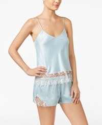 Flora Nikrooz Adeline Charmeuse Cami And Shorts Pajama Set Seafoam