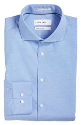 Calibrate Men's Big And Tall Extra Trim Fit Non Iron Solid Stretch Dress Shirt Calibrate Blue