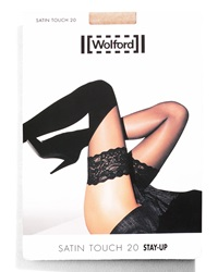Wolford Satin Touch Stay Up Thigh Highs Gobi Medium