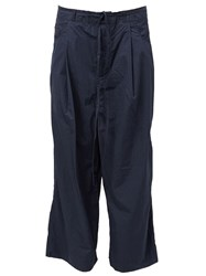 Craig Green Wide Leg Cropped Trousers Blue