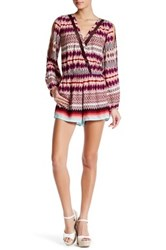 Jessica Simpson Long Sleeve Romper Red