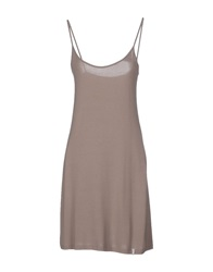 Ekle' Short Dresses Khaki