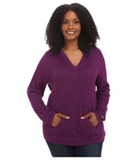 Columbia Plus Size Set Her Free Pullover Hoodie Plum Women's Sweatshirt Purple