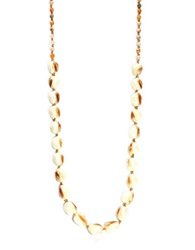 Chan Luu Mother Of Pearl African Opal And Sterling Silver Oval Disc Necklace White