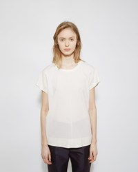 Jil Sander Seamed Crewneck Tee Natural