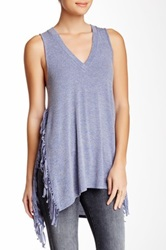 Riller And Fount Iris Side Fringe Tank Blue