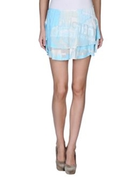 Custo Barcelona Mini Skirts Turquoise