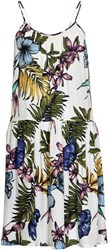 Soaked In Luxury Tropical Print Halter Dress Multi Coloured