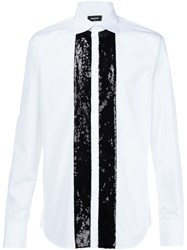 Dsquared2 Sequin Embellished Shirt White