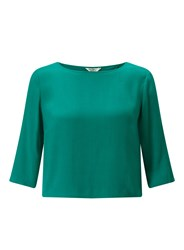 Miss Selfridge Jade Wrap Back Tee