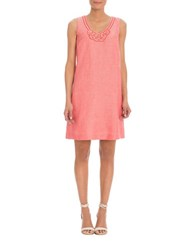 Nic Zoe Jetset Beaded Shift Dress Pink