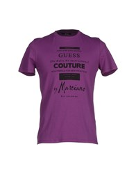 Guess By Marciano Topwear T Shirts Men Mauve