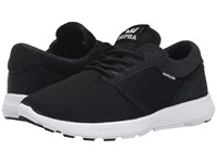Supra Hammer Run Black Mesh Snakeskin Embossed Suede Women's Skate Shoes