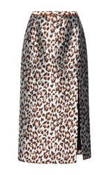 Christopher Kane Leopard Jacquard Pencil Skirt Print