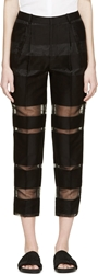 Each X Other Black Striped Fil Coup Trousers