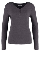 Zalando Essentials Long Sleeved Top Dark Grey Melange Mottled Dark Grey