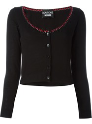 Boutique Moschino Scoop Neck Cardigan Black
