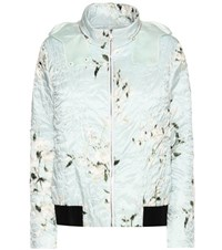 Moncler Gamme Rouge Magnolia Printed Down Jacket Green