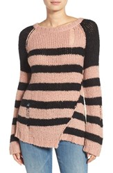 Pam And Gela Women's Colorblock Stripe Sweater
