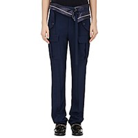 Sies Marjan Women's Tech Twill Foldover Waist Trousers Navy