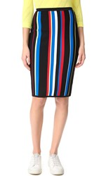 Versace Striped Skirt Rosso Multicolor