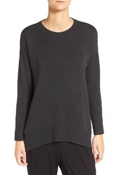 Eileen Fisher Women's Cashmere And Wool Blend Oversize Sweater Charcoal