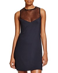 Vince Camuto Mesh T Shirt Dress Swim Cover Up Ebony