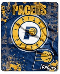 Northwest Company Indiana Pacers Raschel Shadow Blanket Navy