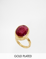 Ottoman Hands Spice Box Semi Precious Ruby One Stone Ring