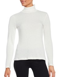 Splendid Ribbed Turtleneck Sweater Ivory