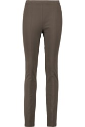 Donna Karan Stretch Jersey Leggings Gray
