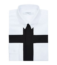 Givenchy Black Front Cross Shirt Male White