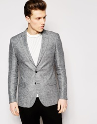 Reiss Salt And Pepper Blazer In Tailored Fit Grey